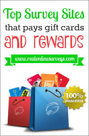 here are the top 10 sites that pays you with gift cards and rewards for taking