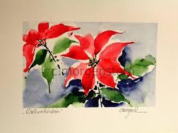 Galerie Morgenstern Weihnachtsstern Als Aquarell