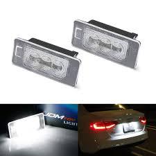 Audi A3 Led License Plate Lights Ijdmtoy Oem Fit 3w Full Led License Plate Light Kit For Audi A3 A4 A5 A6 A7 Q3 Q5 Q7 Tt Porsche Cayenne Panamera Powered By 3 Piece Osram Xenon White