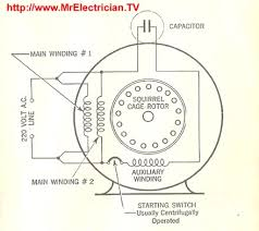 split phase single value capacitor electric motor dual voltage wiring diagrams of fractional horsepower electric motors