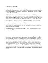 example of a rhetorical essay resume examples essay rhetorical  rhetorical situations of essay 1