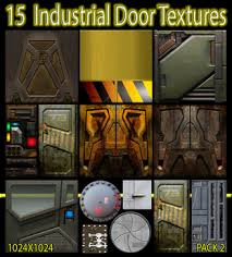 Second Life Marketplace 15 Industrial Door Textures PACK 2