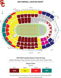 Usc Football Seating Chart New Rose Bowl Stadium Ucla