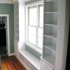 bookshelf around window custom hallway built in by home solutions com backgrounds around windows vitalsource bookshelf