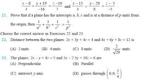 parallel planes equations. ncert solutions parallel planes equations t