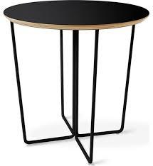 gus modern array round end table black