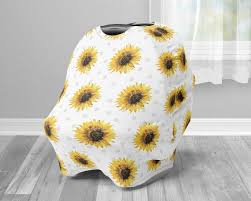 sunflower car seat canopy cover