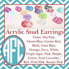 1 pair of acrylic earrings
