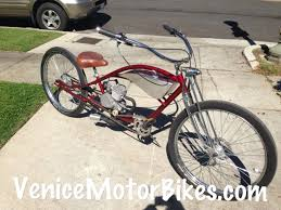 motorized bicycle stretch cruiser dyno roadster custom bicycle