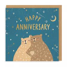 Happy Anniversary Bears Square Greeting Card