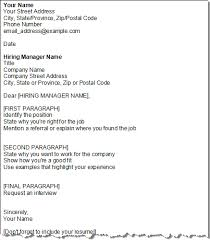 cover letter layout template layout of cover letter