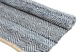 denim rag woven rug woven denim rug handmade denim rug made of recycled jeans woven by
