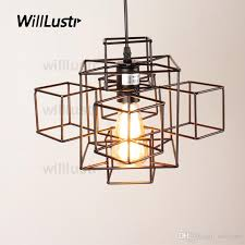 willr metal abstract geometry pendant light american country suspension lamp industry loft edison bulb hanging lighting contemporary ceiling lights
