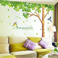 how to make large wall decals plus big size extra large wall decals fresh green leaves