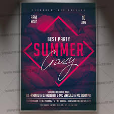 Club Summer Party Flyer Psd Template