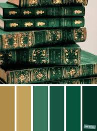 emerald green and gold color scheme