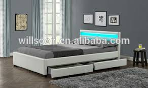 modern bedroom furniture with storage. Contemporary Modern Storage Double Size Multi Color LED White Soft PU Leather Modern Bedroom  Furniture Led Bed 1894 Inside With S