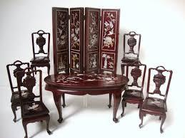 Dollhouse miniature asian furniture