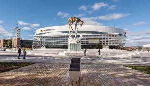 It will mainly be used for ice hockey, and other indoor sports, as well as music concerts. Apres Les Cerfs Les Renards Fm93