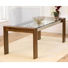 walnut glass top dining table