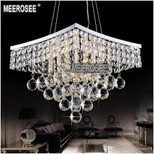 square shape crystal pendant lamp light lighting fixture for dining room crystal suspension light md8795 pendant light fitting pendant track lighting