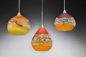 art glass lighting fixtures. Strata Pendant Lights By Danielle Blade And Stephen Gartner Art In Glass Light Inspirations 5 Lighting Fixtures
