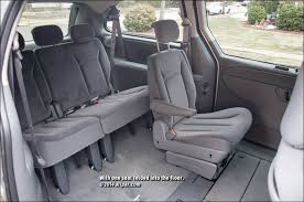 2001 2007 chrysler town country voyager and dodge caravan folded seats