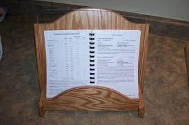 oak cook book stand