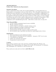 Download Patient Service Representative Resume
