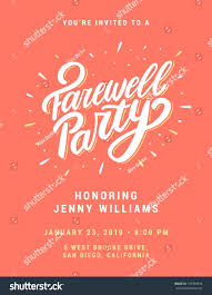 Free Going Away Party Invitations 027 Template Ideas Printable Farewell Card Going Away Party