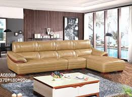 this set sofa is generous leather furniture for living room yellow and white two color simple modern accord with ergonomic design gives a feeling of