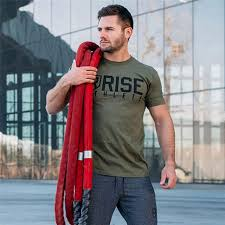 men gym t shirt fitness bodybuilding short sleeve cotton army green shirts workout clothes crossfit tee tops clothing aliexpress
