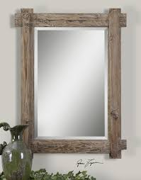 wood mirror frame. Rustic Wood Framed Mirrors Photo - 1 Mirror Frame R