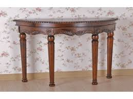 attractive half moon accent table with round end tables wood half round console table carved wood half