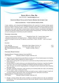 New Grad Rn Resume With No Experience Resume Example Free Registered