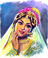 indian painting by tamilnadu artist maruti indian paintings indian paintings
