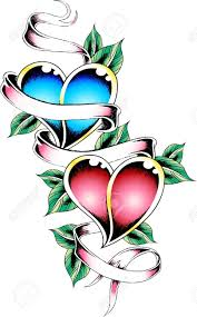 Heart And Ribbon Designs 30 Ribbon Tattoo Designs