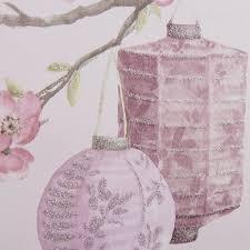 Sparkle Glitter Behang Roll Lavendel Bloemmotief Offset Match