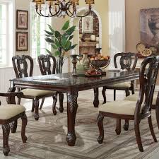 Traditional Dining Room Set White Walnut Console Table Traditional Dining Room New York By