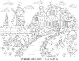 Coloring Book Landscape Images Stock Photos Vectors Shutterstock