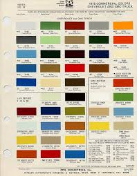 Chevy Stock Chart 1975 C10 Stock Colors Google Search Truck Paint Car