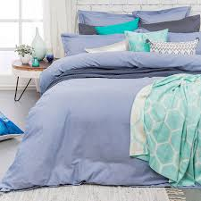 charleston chambray blue super king quilt cover set by bambury