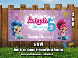 Happy Birthday Banners Personalized Shimmer And Shine Birthday Banner Happy Birthday Banner Birthday
