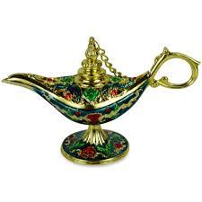 Ornate Aladdin Magic Genie Lamp Oil Lamp Incense Burner Lamp Of