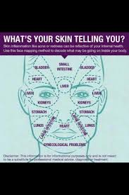 Reading Health Chart Skin Chart Face Mapping Face Reading Health