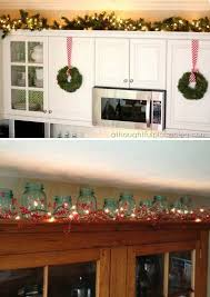 decor above kitchen cabinets. A Great Spot To Display Christmas Lighting In Your Kitchen. Decor Above Kitchen Cabinets T
