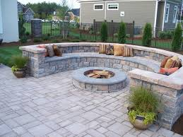 Small Picture Paver Patio with firepit and all around sitting wall Architectural