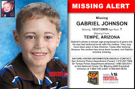 GABRIEL JOHNSON, Age Now: 7, Missing: 12/27/2009. Missing From TEMPE, AZ.  ANYONE HAVING INFORMATION SHOULD CONTACT: San An…   Arizona, History of  science, Word find