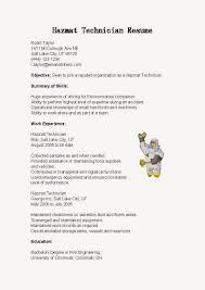 Gallery Of Hazardous Materials Technician Cover Letter