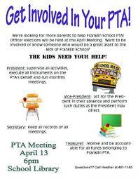 Pta Elections Flyer Pta Officer Elections In April Pta Pta Parent Volunteers Pta